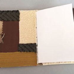 """Small Patch, (inside) 2015, 5 x 7.75 x 4"""", mixed media/artist' book"""