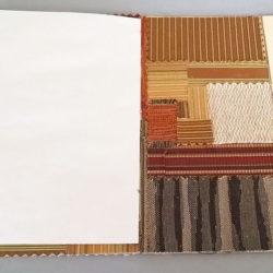 "Patch Work, (inside) 2015, 8 x 12 x 6"", mixed media/artists' book"